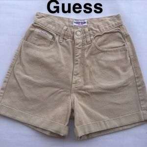 High Waisted Guess shorts